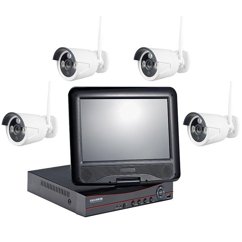 720P 4CH WIFI NVR KIT WITH LCD AP-K9604E-W-PE3010-W